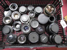 Carl Zeiss F=35mm Lens, Chinon, Cimko MT series, Pentacon, Tamron, Hamimar automatic and many more
