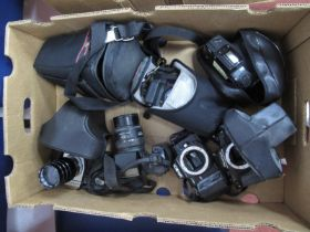 Prakitca MTL3 Camera Palinar Tele Photo F=135mm Lens, Pentax SF7 with Pentax zoom lens, Minolta