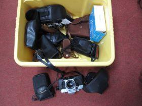 Agilux Bakelite Camera, Konica zoom, Cobra flash, Canon zoom max, Agfa silette 1, PR small field