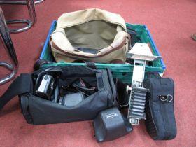 Camera Bags and Cases, large quantity (empty) Kodak, Pentax, Yashica, Pentacon, etc.