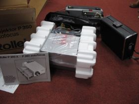 Rollei P350-A Auto Focus Projector, also a Sankyo Dualux 1000 with a Sankyo Super CM 260, boxed