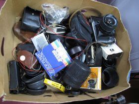 Zenit EM Camera + 28mm Lens, camera body, light meters, etc.