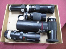 Hanimex Tele Lens F=400mm No H52652, Super Paragon auto zoom f=80 - 200mm, Tamron CF tele macro
