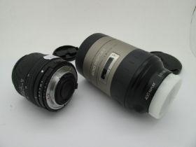 Minolta 400 Reflex Lens, plus Sigma DL zoom 35 - 80mm 1:4 - 5.6. (2)