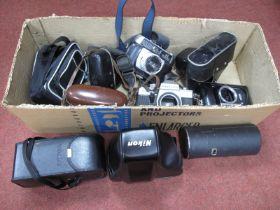 Zemnit E Camera Body, Helina, Canon Sure Shot, Nikon case, Praktica body, Tamron lens case, etc.