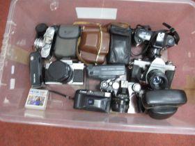Praktica MTL3 Camera and Lens, Zenit camera and lens, Halina 35X, Canon Junior, Kodak, Olympus,