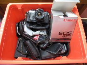 Caonon EOS 620 Camera Boxed, Pentax Chinon, Canon Auto 2001, Canon MC10, Nikon RFZ, Agfa, Canon 105,