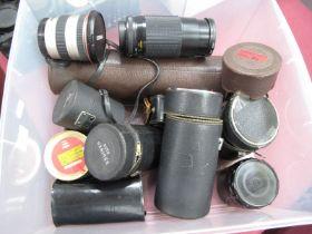 Paragon F=500mm Cases Marco Focusing 200m 58mm, Hanimex tel-lens, quantity filter, many more etc.