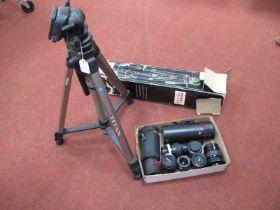 Tamron F=300mm BBar Multi C, Prinzflex auto reflex f=135mm lens, auto Chinon 135mm lens, Minolta