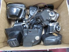 Zenit-E Camera Body, Yashica zoomtec 70 - Samsung auto zoom 130, Minolta AF-EII, Ricoh RZ - 735,
