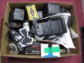 Tamron SP Teleconverter 2X, wonder viewer, Vivitar 2X converter, Coronet camera, Nissin flash,