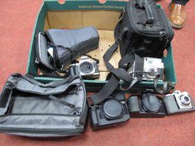 Minolta Dynax 4 Camera Bag, two camera carrying bags, Koroll II camera, Olympus filters, Kodak