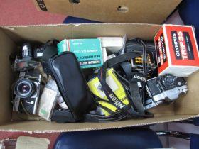 A Quantity of Camera's,Cosina, Minolta, Olympus A9M, Olympus Trip 35, Helios 44 lens, filters, etc.