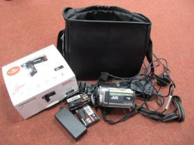 JVC 800 x Digital Zoom Camcorder, with charger and spare tapes, all in a Minolta carry case, plus