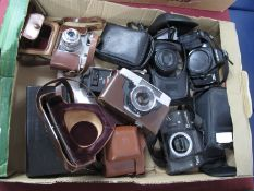 Minolta 3000i, Sony Cyber Shot, Samsung AF zoom 1050, Photax flash, Zenit camera body, Cobra