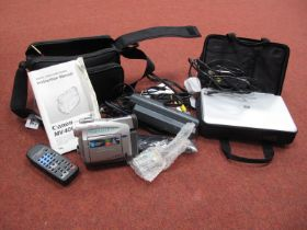 Proling Portable DVD/Video Battery, Battery Charger, Mains Charger, all in carry bag, plus Canon