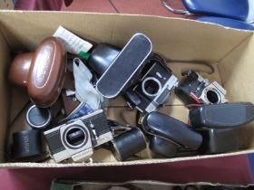 Praktica PLC3 Camera Body, Zenit-E Moshva-80, Praktica camera body, Solitel tele converter, Praktica