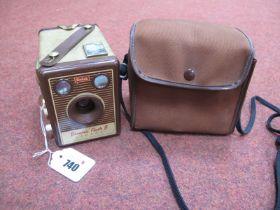 Vintage Kodak Brownie Flash B Camera, with case.