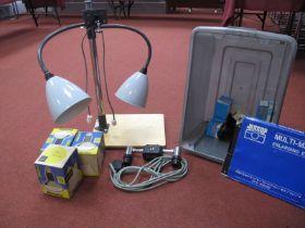 Camera Lighting Equipment, set up, bulbs and wiring.