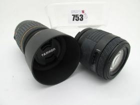 Tamron AF 55-200mm 1:4 - 5.6 Zoom Lens, Sigma U.C zoom 70 - 210mm 1.4 - 5.6 zoom lens. (2)