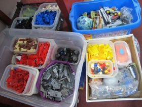 A Large Quantity of Lego, sorted into boxes by colour.