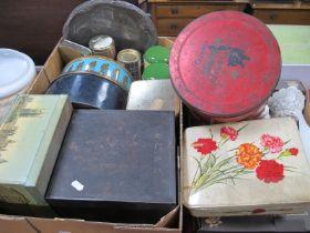 Vintage Tea and Sugar Jars, Crawfords tin, Victory V Tin, other tins.