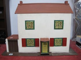 Dolls House, 70cm wide, with contents, including Japanese plastic items.