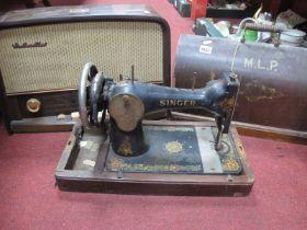 HMV Radio,Model 1372, a Singer sewing machine. (2)