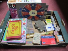 Playing Cards, lotto, crib board, etc:- One Box.