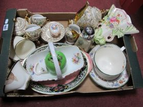 A Coffee Set, Spode breakfast cup and saucer, Unicorn wall posy, other ceramics:- One Box.