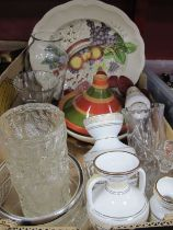 Spode Reynolds Large Plate,Greek and other ceramics, glassware, etc:- One Box.