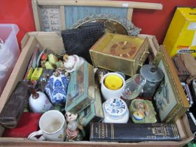 Ceramics, mirrors, tins, etc: One Box, The Glass Queen Washboard.