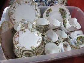 Nortake Cream & Gilt Tea Ware, of thirty seven pieces. Royal Vale Tea Ware, of twenty seven pieces.