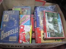 Eagle Pin Ball Bagatelle (in original box), Monopoly, other games, etc:- One Box