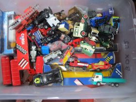 Diecast Model Vehicles, including Corgi, Matchbox, Lledo, Lesney:- One Box.