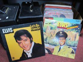Records - LPs Elvis, Slim Whitman, Lena Martell, Rubetts, etc, cassettes, Esso F.A Cup coin set:-
