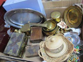 Pimpernel Place Mats, brass ware, boxes, tea strainer, etc:- One Box.