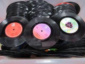 Records: 45rpm's, Wings, Billy Ocean, Van McCoy, Candi Statton, E.L.O, Medicine Head, Hot Chocolate,