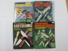 The Gun Digest Book of Knives, 2nd-5th Editions; two further editions. (4)