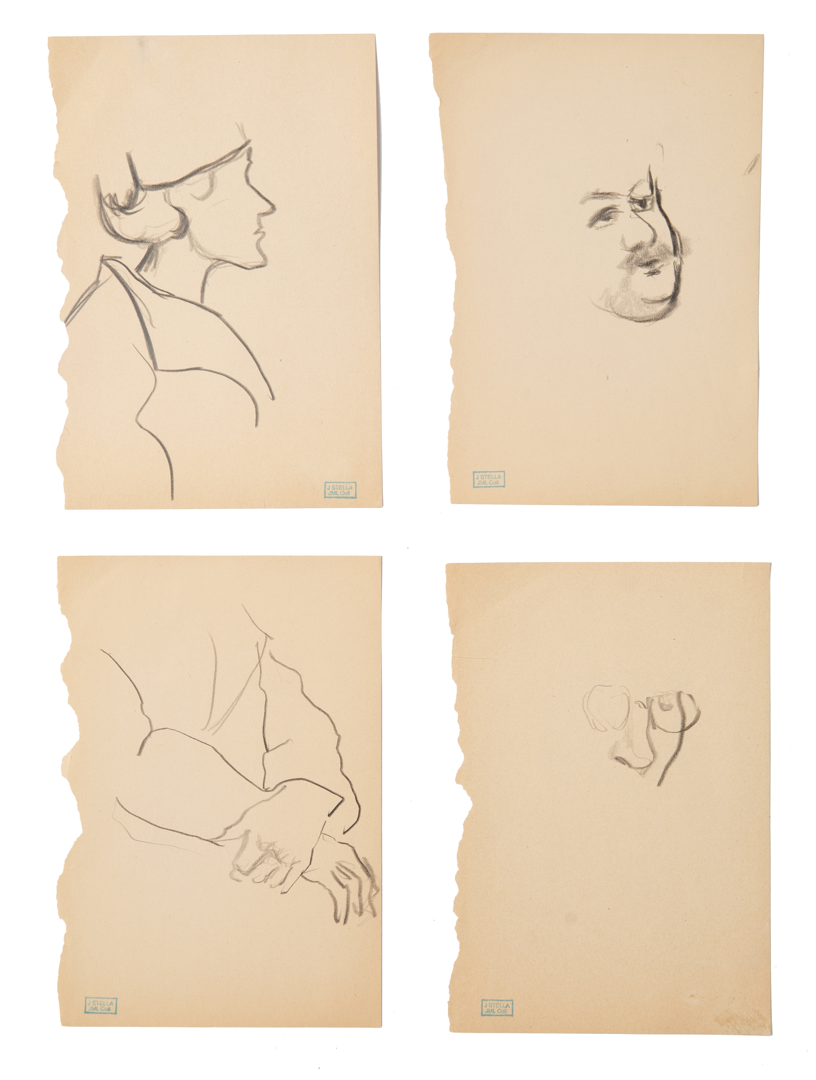 A GROUP OF FOUR DRAWINGS BY JOSEPH STELLA (AMERICAN 1877-1946)