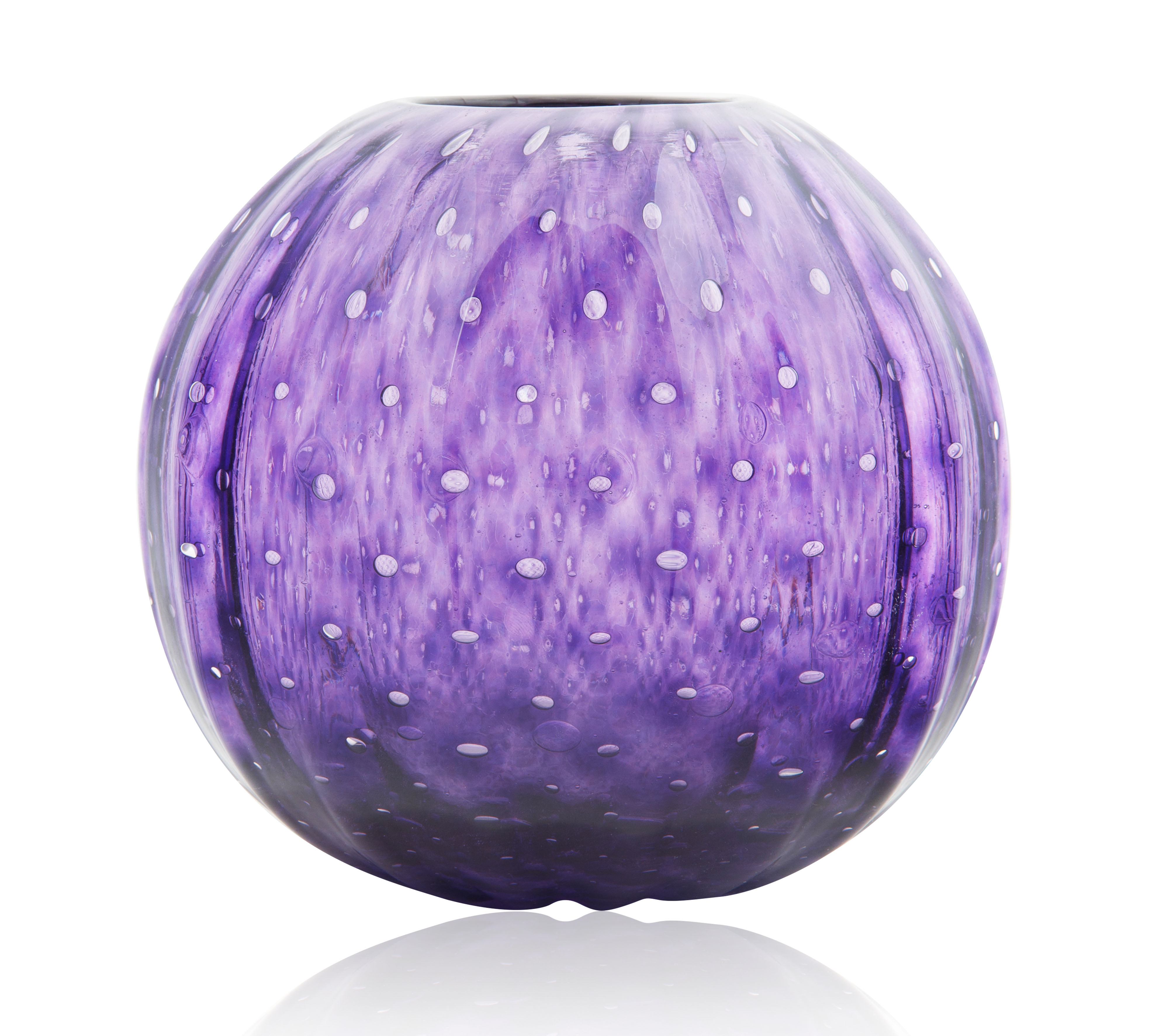 MOST LIKELY MURANO ITALIAN GLASS ROUND VASE - Image 2 of 4