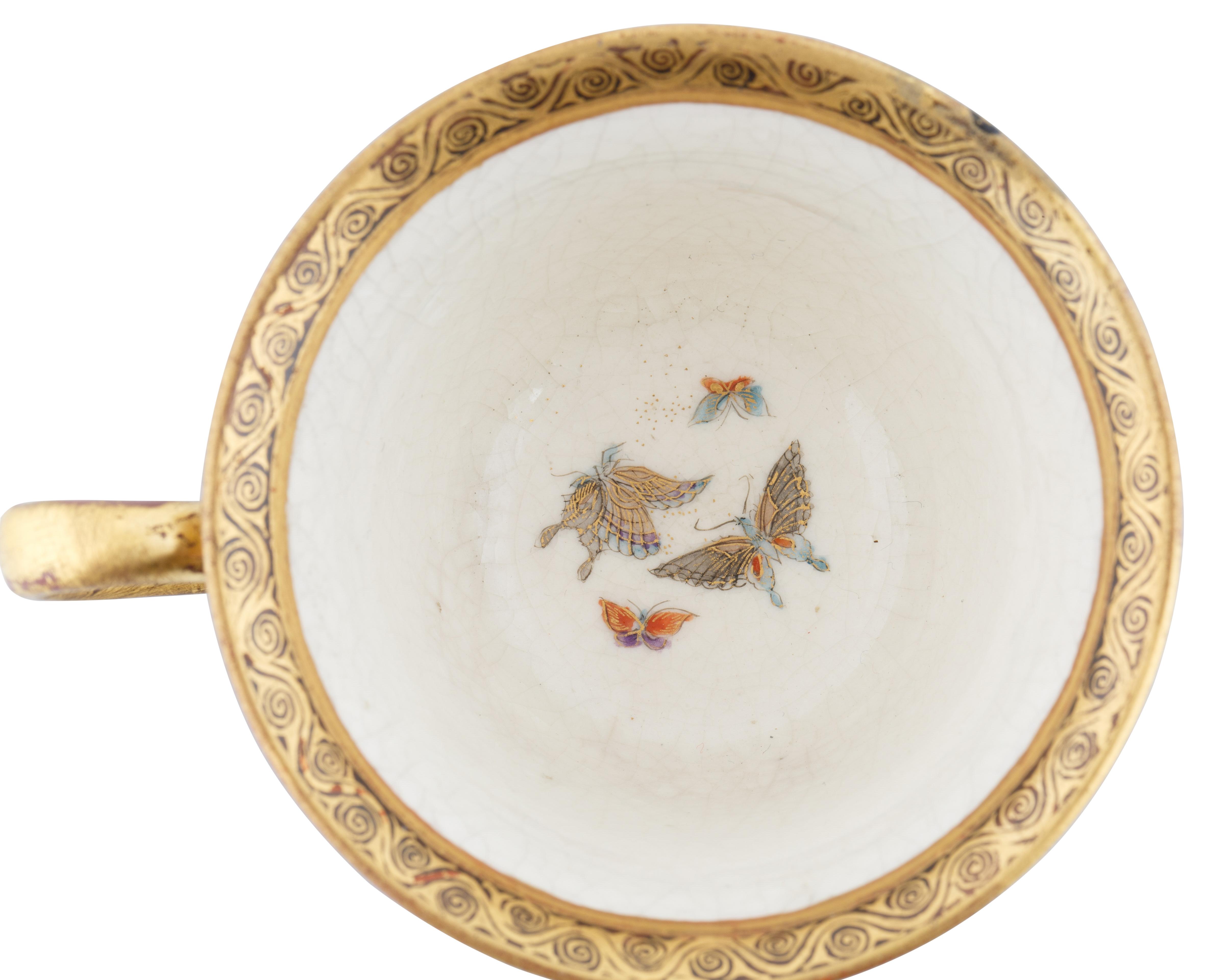 19TH CENTURY SATSUMA PORCELAIN TEA CUP AND SAUCER - Image 3 of 7