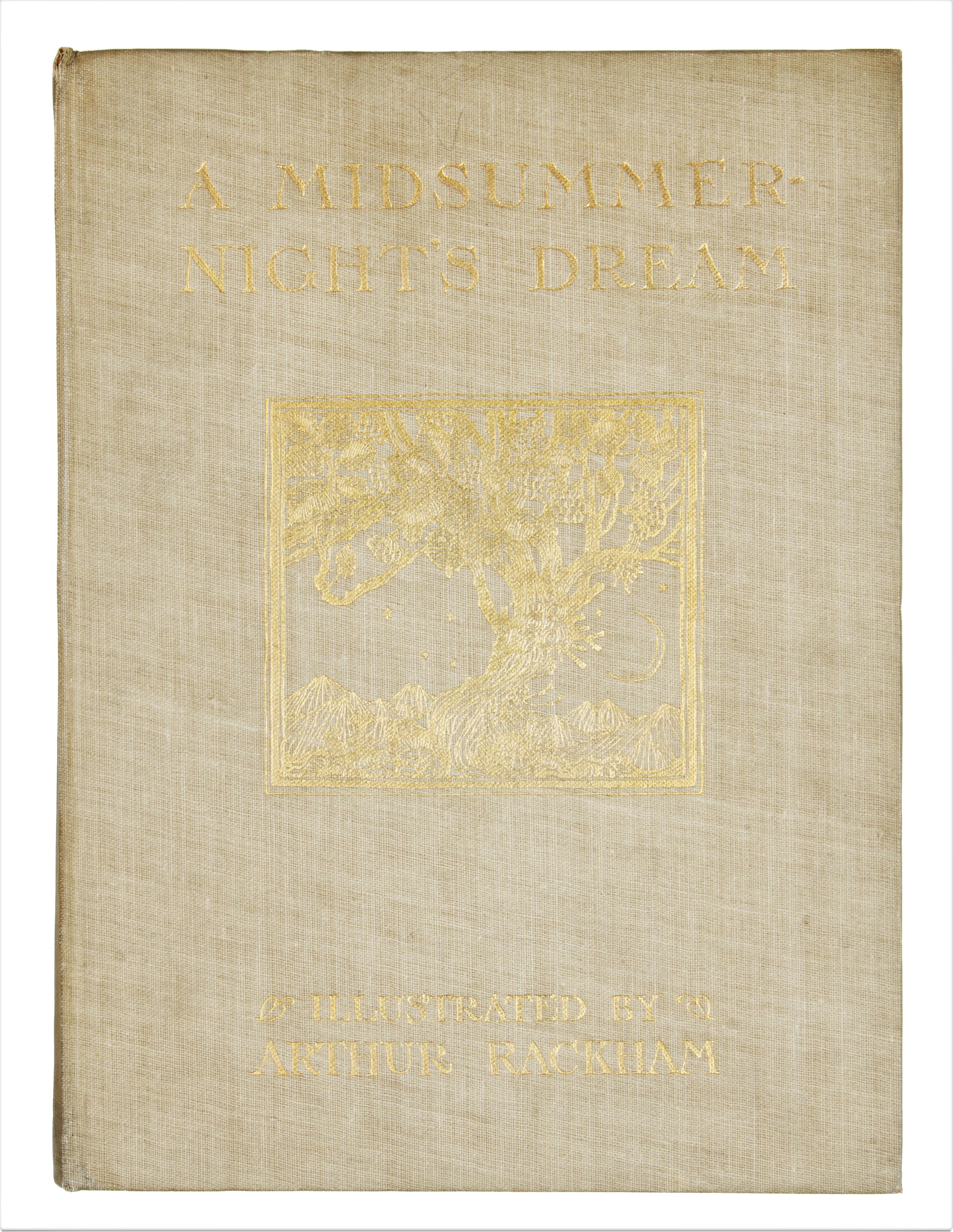 1908 MIDSUMMER NIGHT'S DREAM BY WILLIAM SHAKESPEARE, ILLUSTRATIONS BY ARTHUR RACKHAM