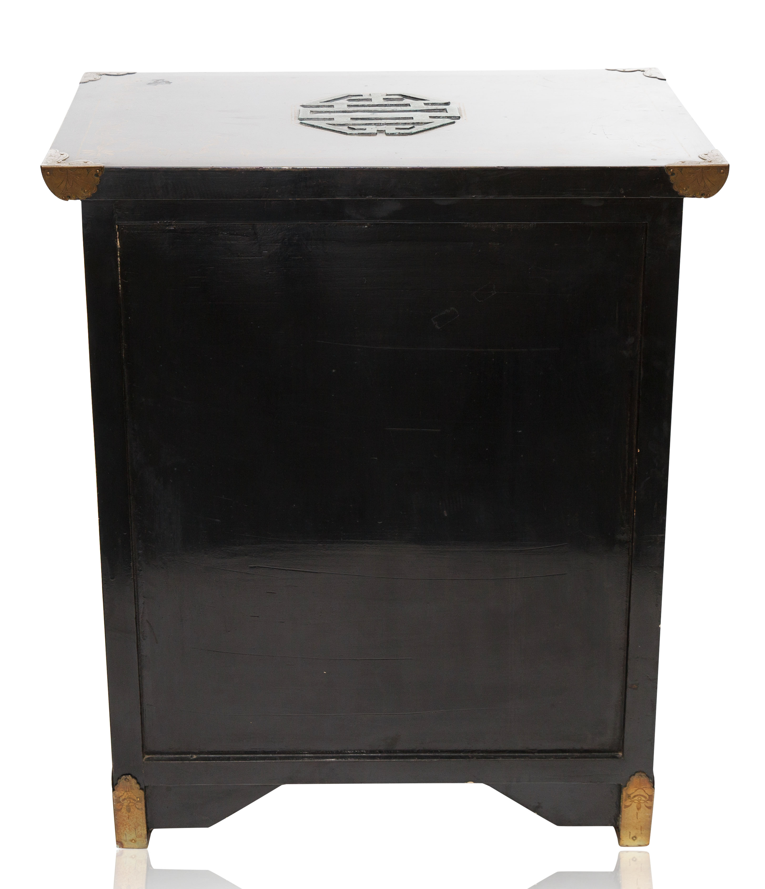 A MEIJI PERIOD JAPANESE EBONISED LACQUER CABINET - Image 4 of 4