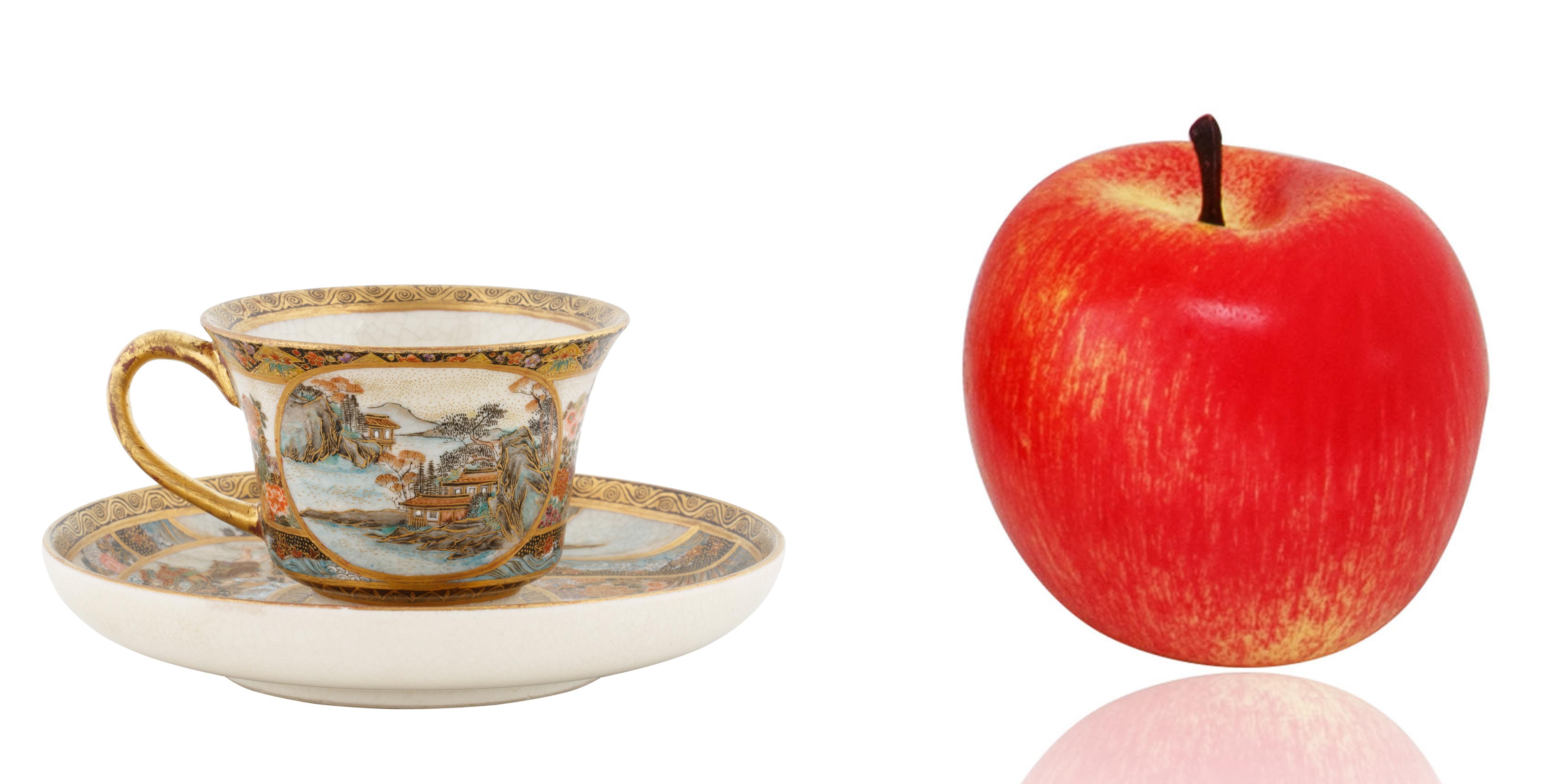 19TH CENTURY SATSUMA PORCELAIN TEA CUP AND SAUCER - Image 7 of 7