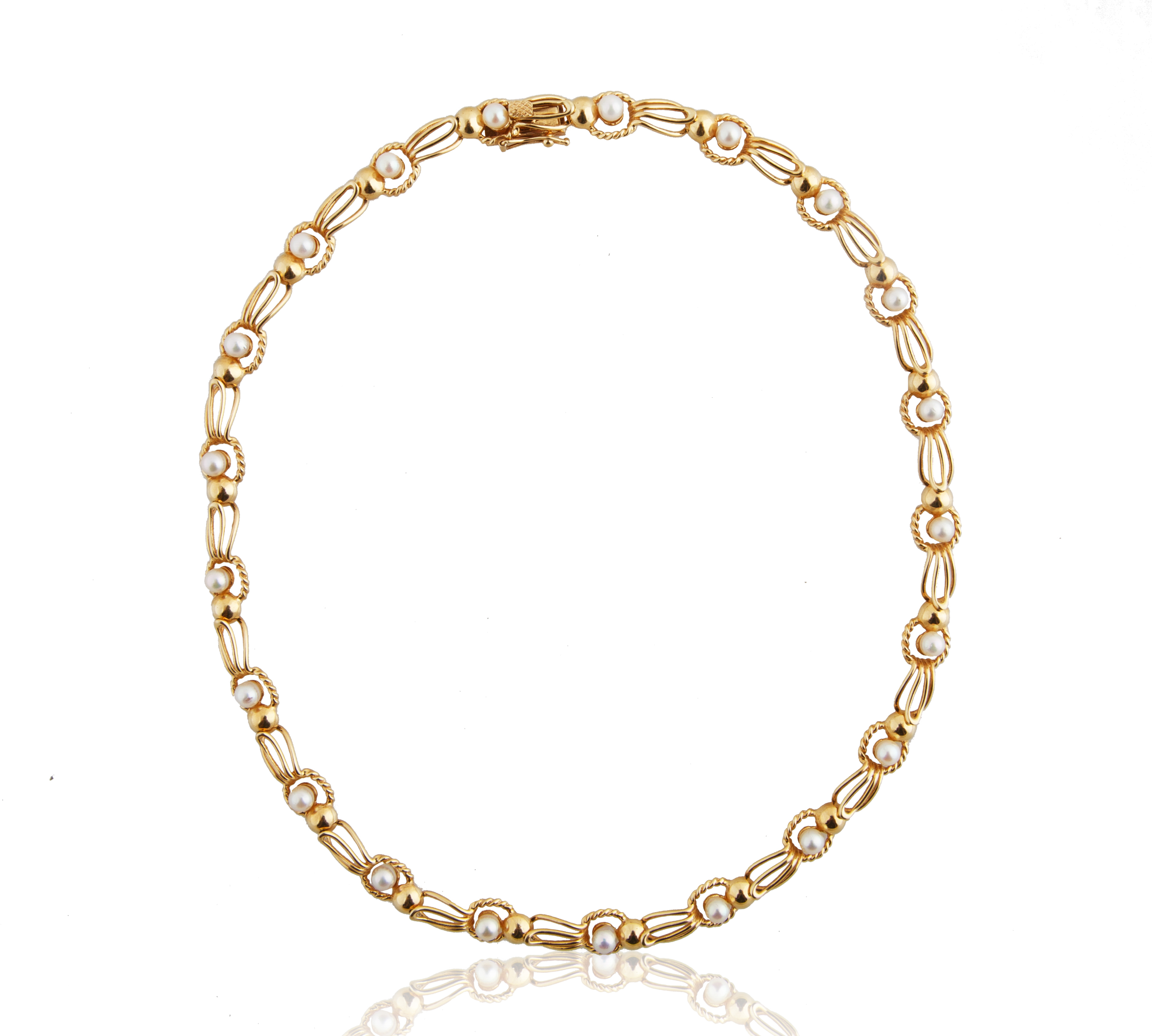 PEARL AND 18KT GOLD BRACELET AND NECKLACE SET - Image 2 of 8
