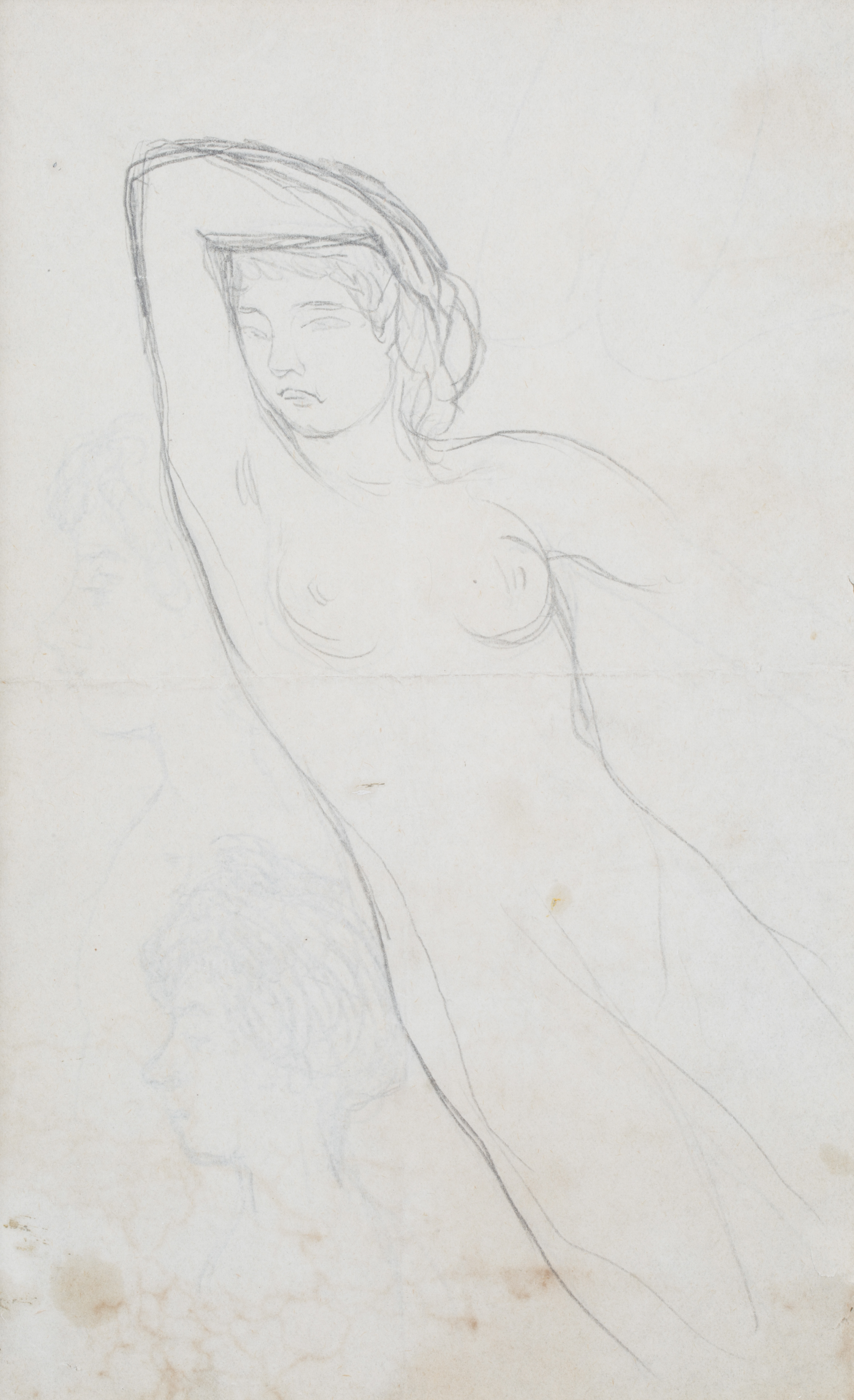 A DOUBLE-SIDED NUDE BY PIERRE BONNARD (FRENCH 1867-1947) - Image 2 of 6