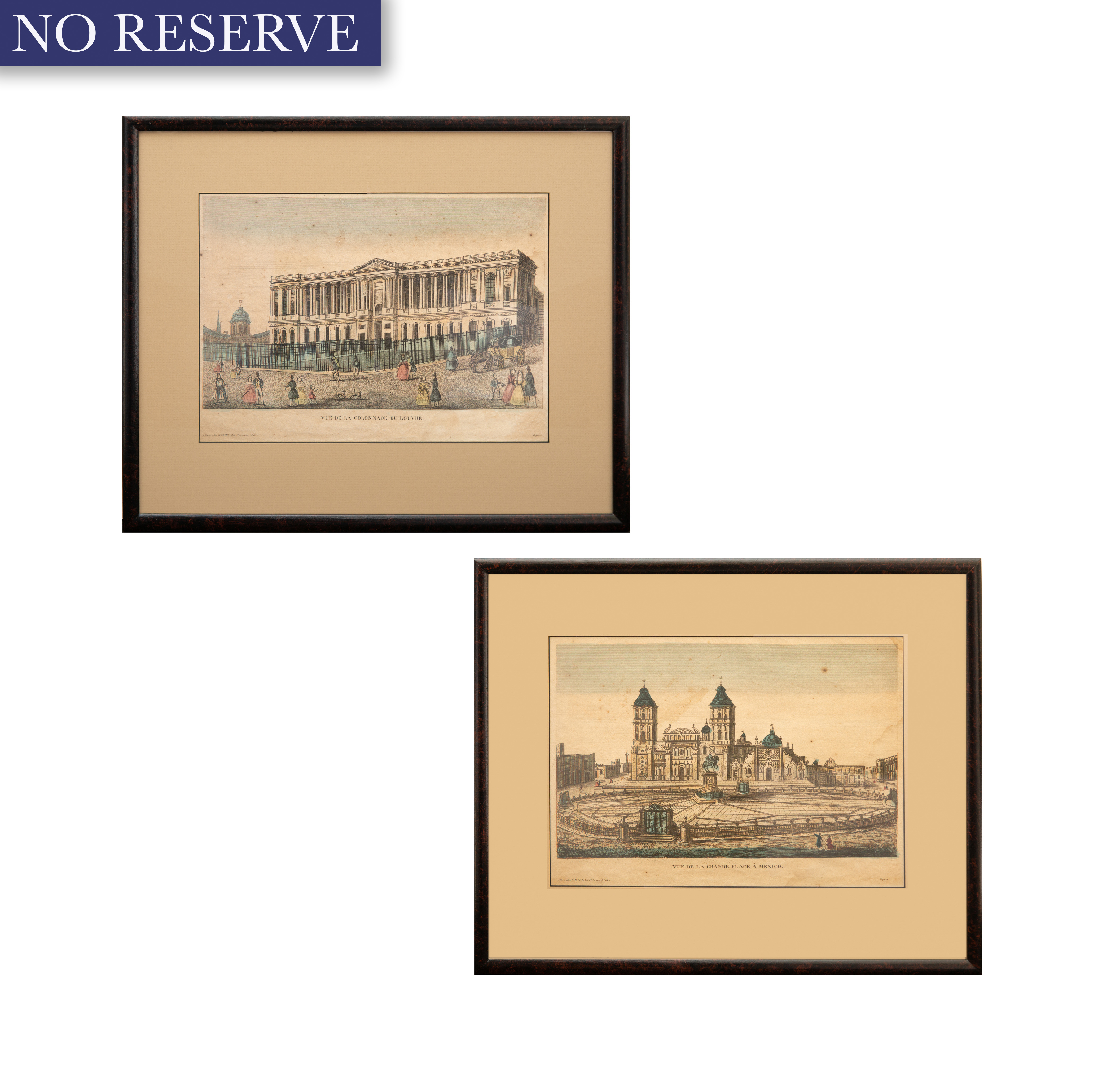 PAIR OF FRENCH ETCHINGS