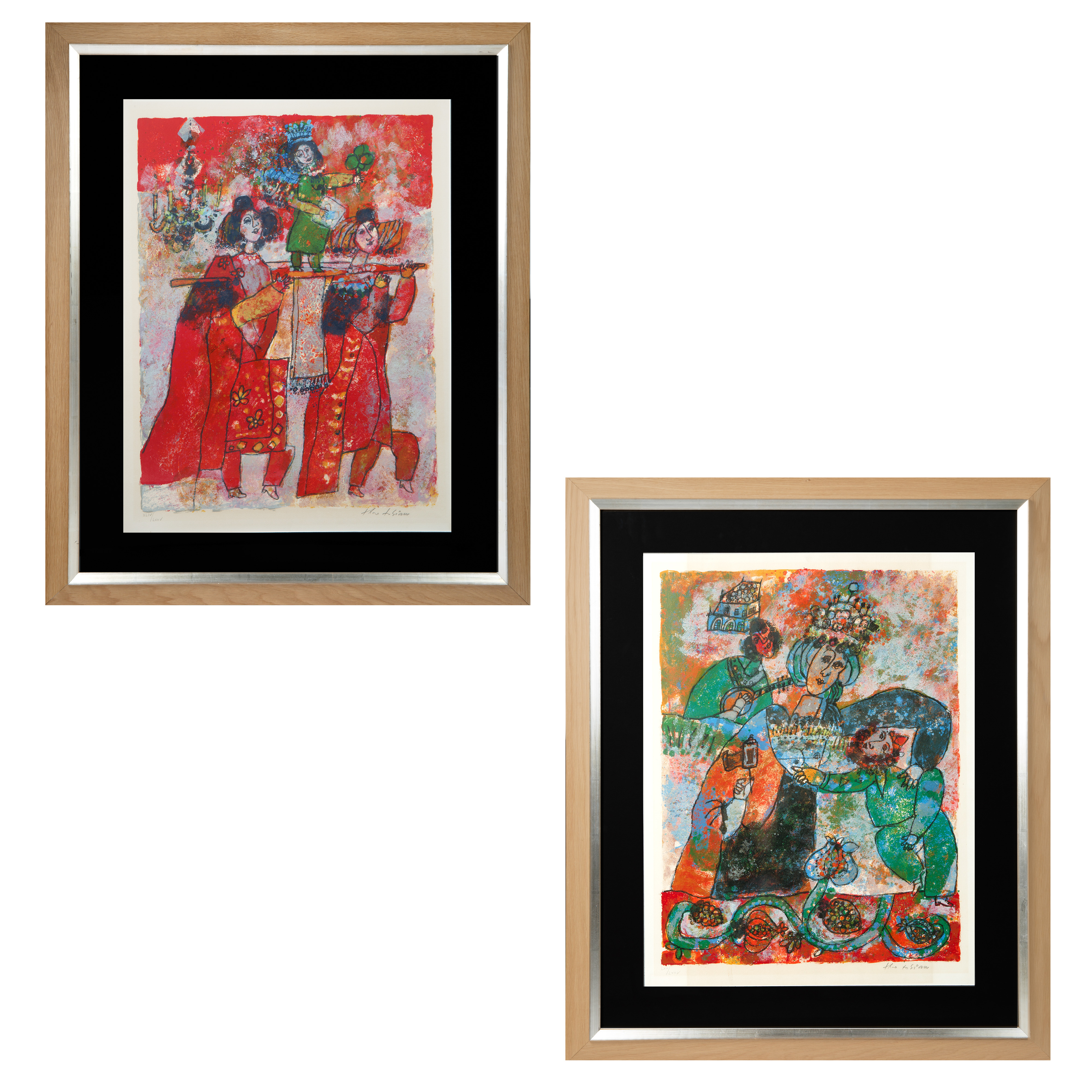 A PAIR OF LITHOGRAPHS BY THEO TOBIASSE (FRENCH 1927-2012)