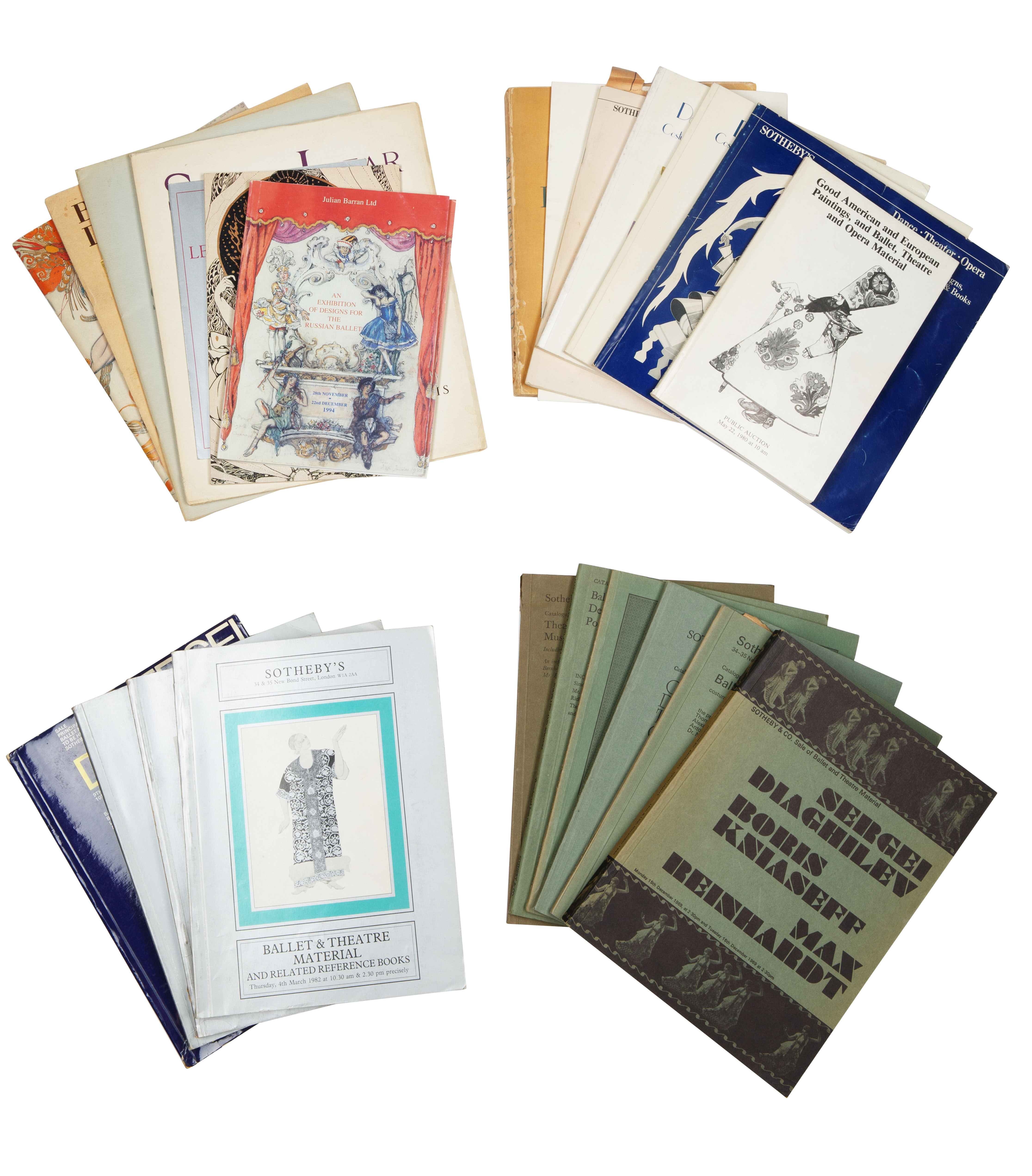 A GROUP OF 46 BALLET RUSSE AUCTION CATALOGUES AND BOOKS - Image 2 of 3